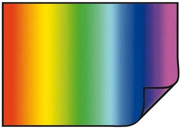 Fotokarton - 70 x 50 cm, 10 st./pak, regenboog
