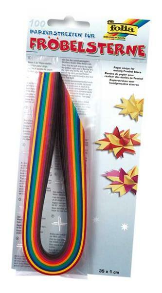 Papierstreifen für Fröbelsterne - 100 Streifen
