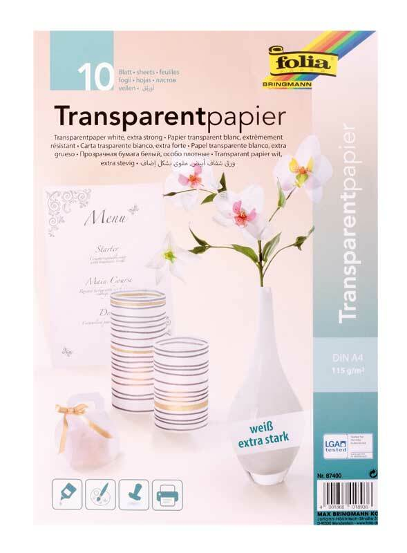 Papier transparent - A4, 10 feuilles, transparent