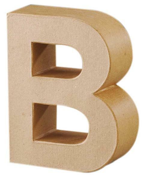 Lettre en papier mâché - B