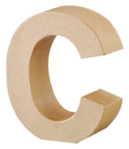 Lettre en papier mâché - C