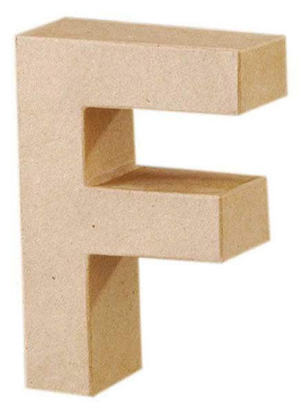 Papier-maché letter F