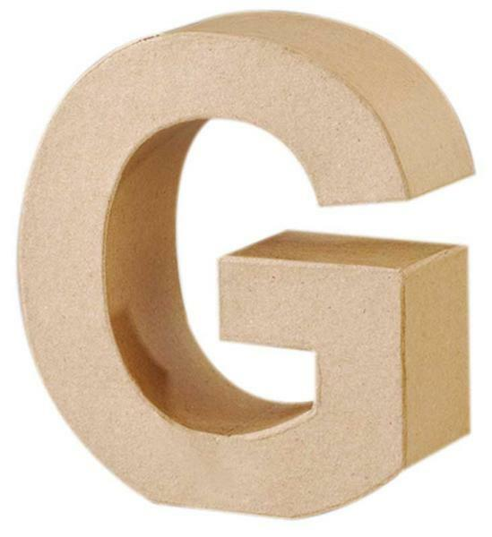 Lettre en papier mâché - G