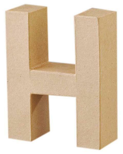 Papier-maché letter H