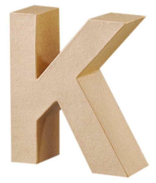 Lettre en papier mâché - K