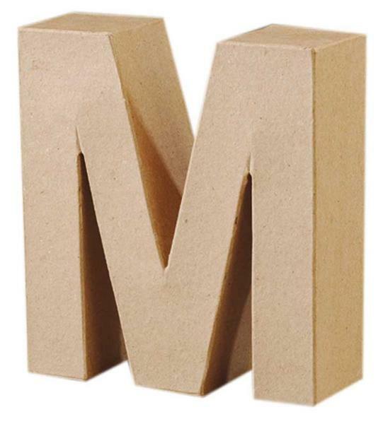 Lettre en papier mâché - M