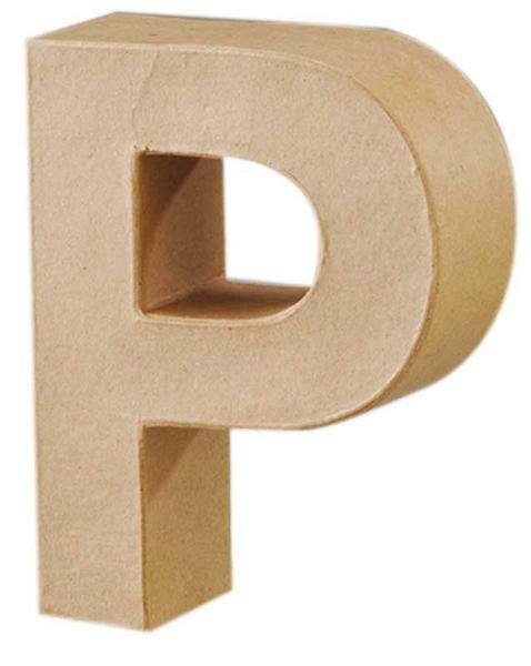 Papier-maché letter P