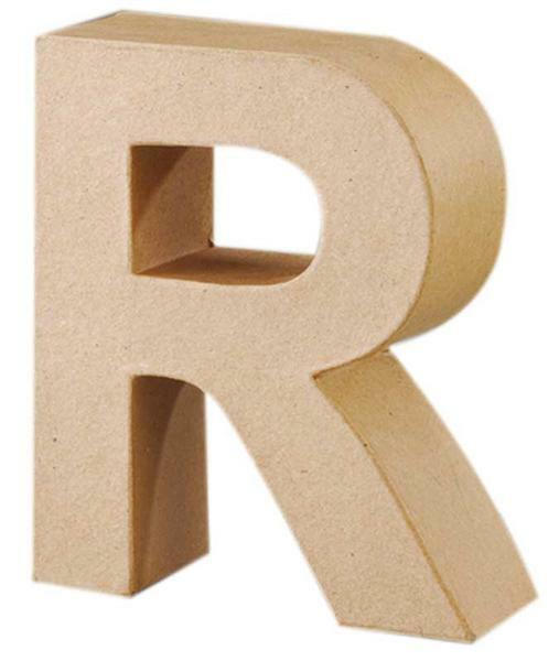 Lettre en papier mâché - R