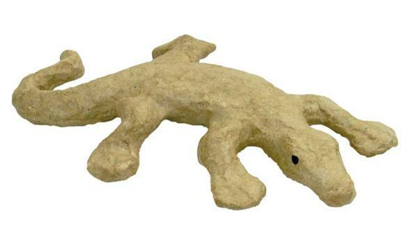 Papier-maché figuur - salamander klein, 16 x 12 cm