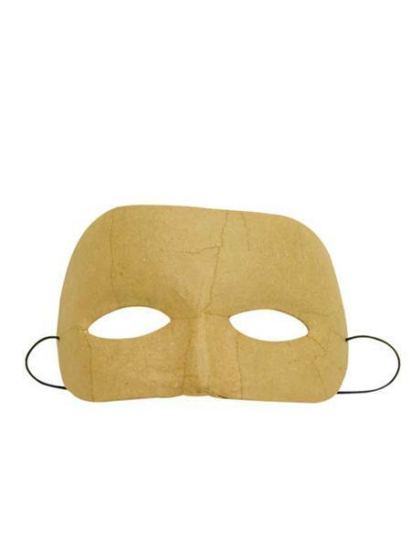 Papier-maché masker, rond