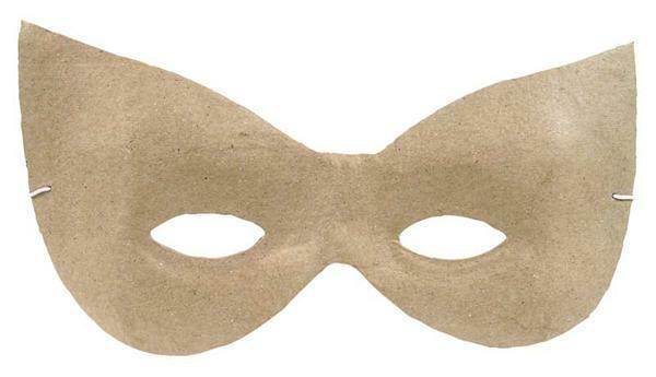 Pappmache Maske, spitz