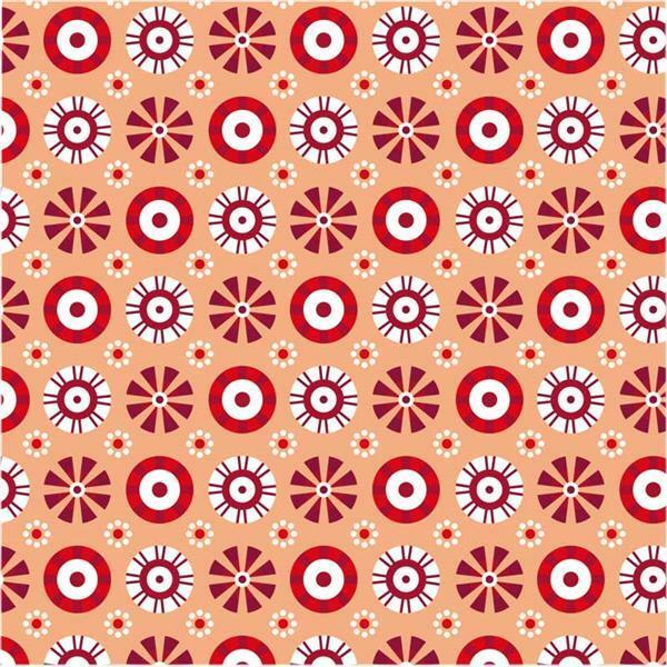 Faltblätter mit Motiven - 15 x 15 cm, rot