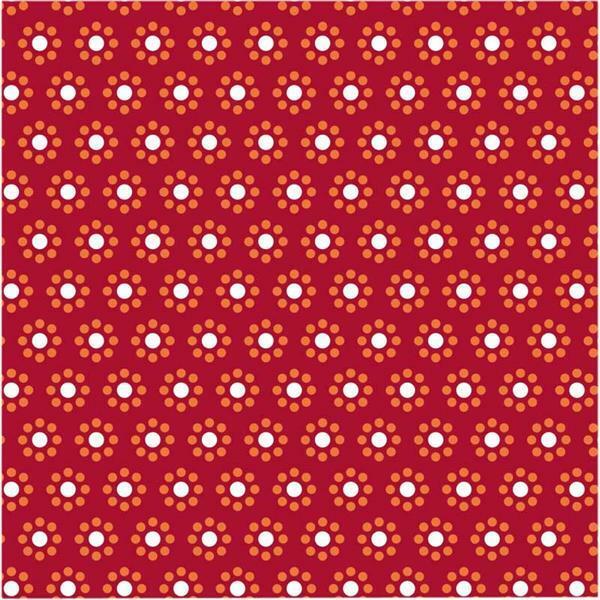 Vouwblaadjes met motieven - 15 x 15 cm, rood