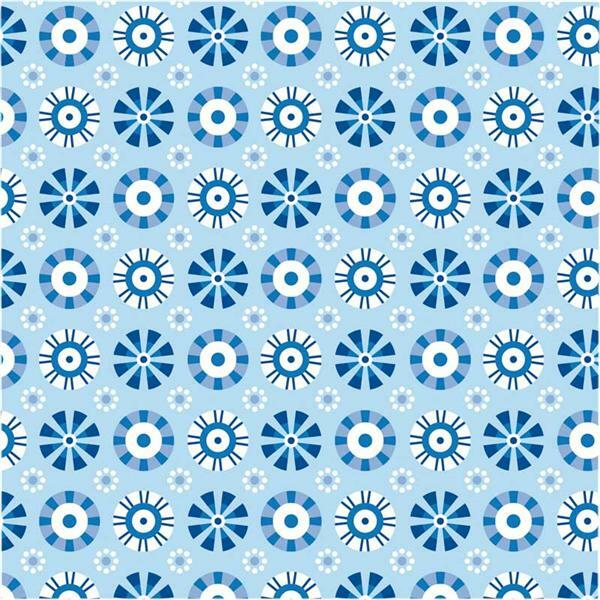 Vouwblaadjes met motieven - 15 x 15 cm, blauw