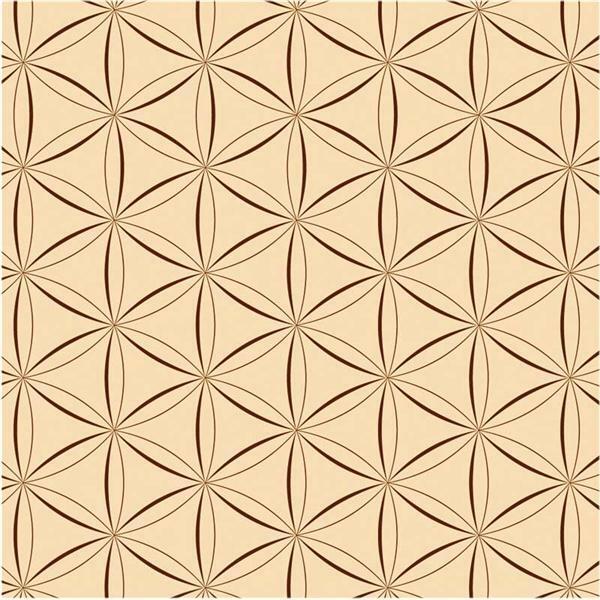 Papier à plier avec motifs - 15 x 15 cm, brun
