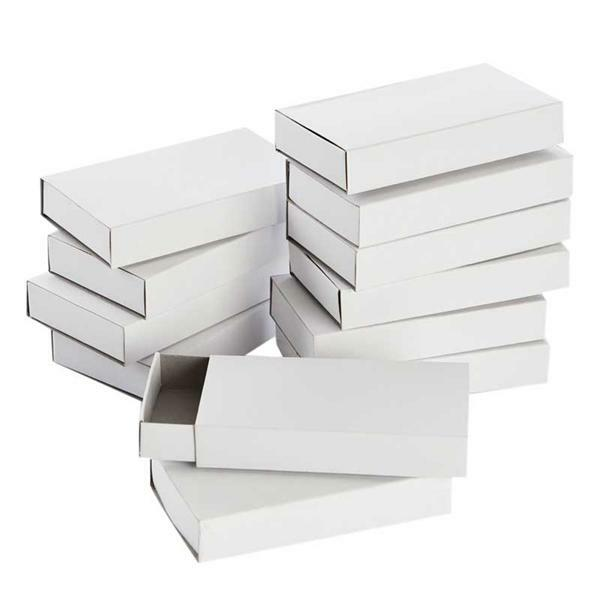 Boîtes à allumettes vierges - Grandes, 12 pces