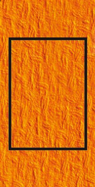 Passepartoutkarten rechteckig, 3er Pkg. orange