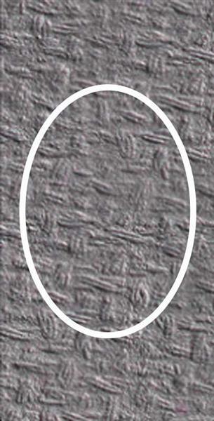 Passepartoutkarten oval, 3er Pkg. anthrazit