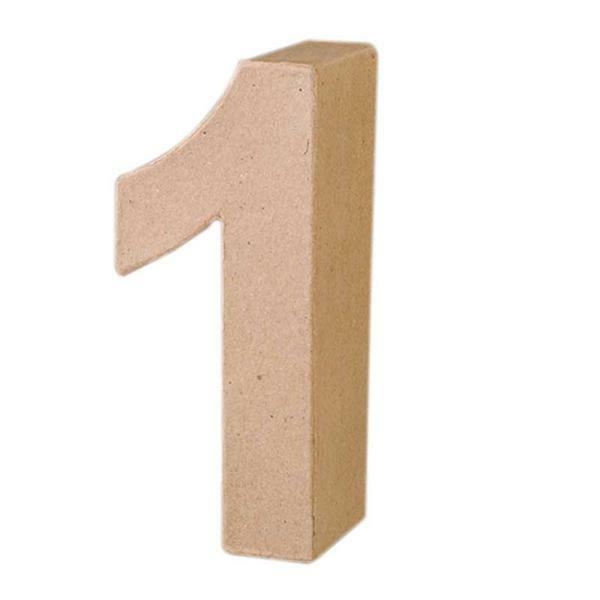 Chiffre en papier mâché - 1