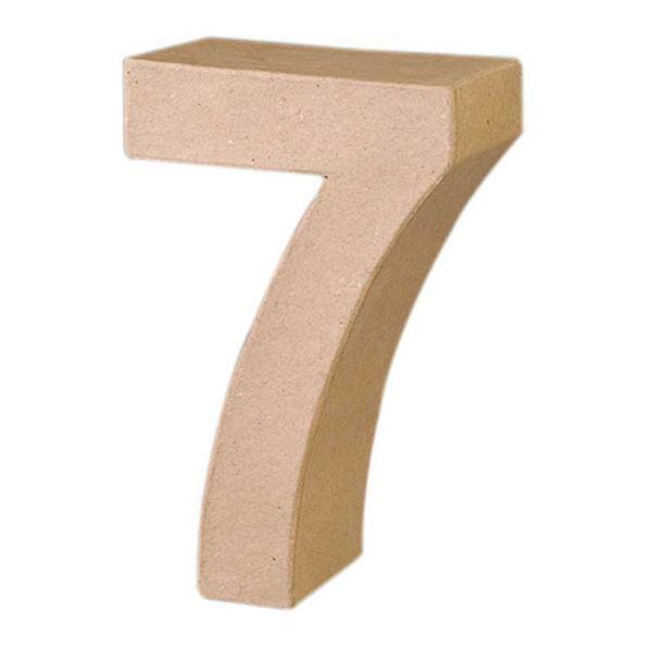 Papier-maché cijfer 7