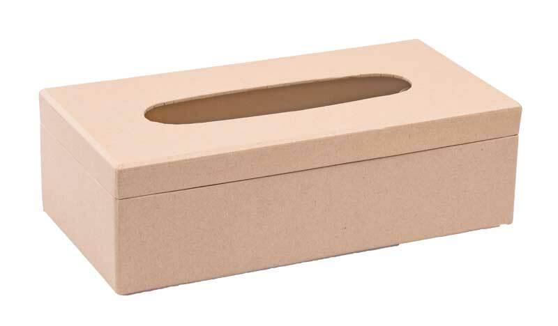 Pappmache Taschentuchbox, 26 x 13 x 8 cm
