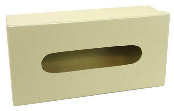 Papier-maché tissuedoos, 26 x 13 x 8 cm
