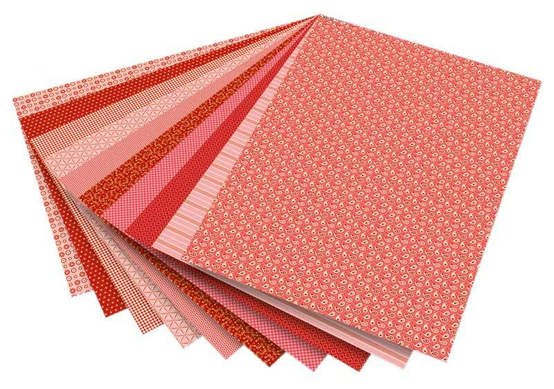 Blocs à motifs - rouge