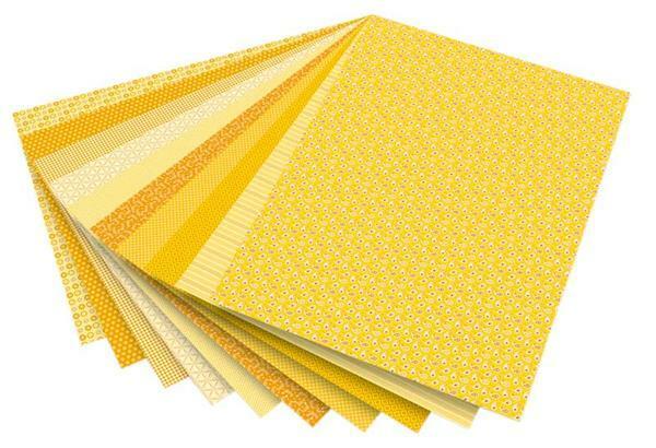 Motivblock, gelb