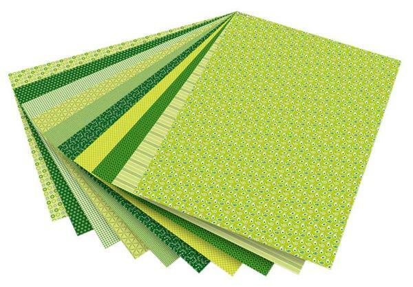 Blocs à motifs - vert