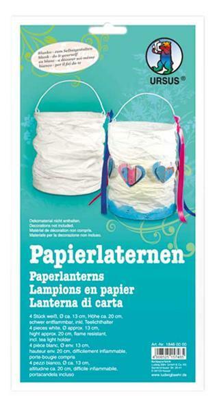Set lanternes en papier - 4 pces, blanc
