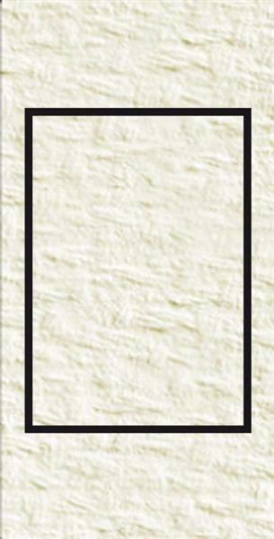 Passe-partout rectangulaire, 3 pces, blanc perlé