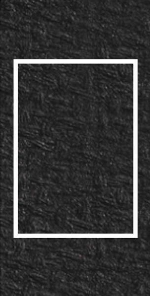 Passe-partout rectangulaire, 3 pces, noir