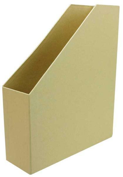 Papier-maché tijdschriftenhouder, ca. 30 x 8 cm