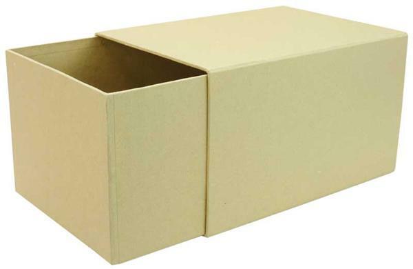 Pappmache Schiebebox, 22 x 16 x 13 cm