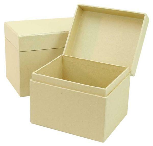 Pappmache Boxen - 2 Stk., 13 + 11 cm