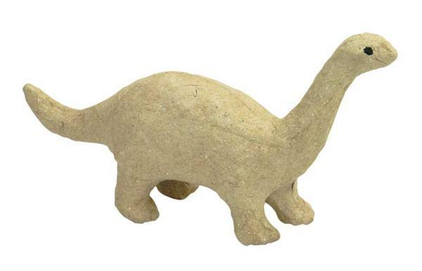 Papier-maché figuur - dinosaurus, 17 x 10 cm