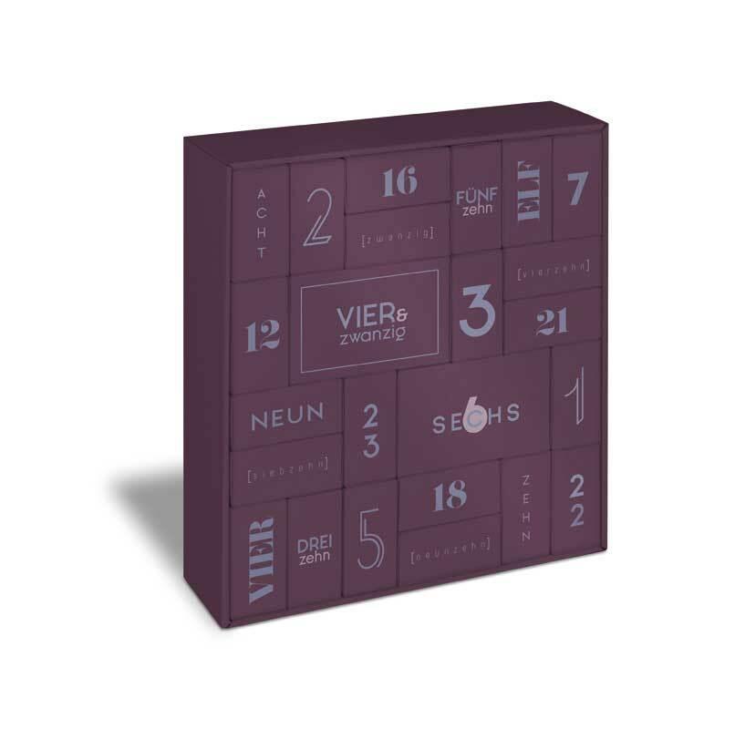 Boîte puzzle blanche / Calendrier de l'Avent
