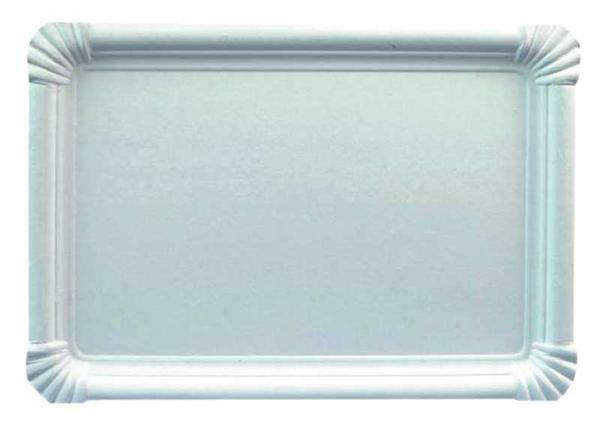 Assiette en carton - blanc, 18 x 26 cm