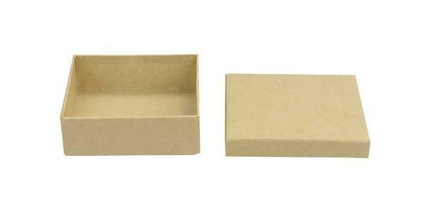 Pappmache Box - Quader, 8,5 cm