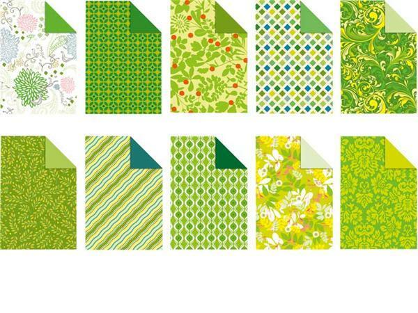 Designkarton-Block, Jade