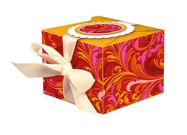 Bloc carton désign - rubis
