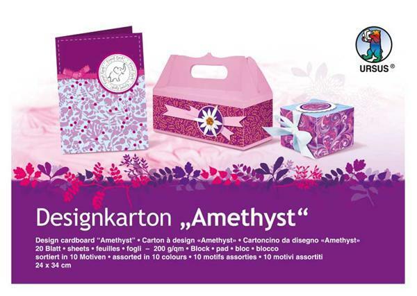 Designkarton-Block, Amethyst