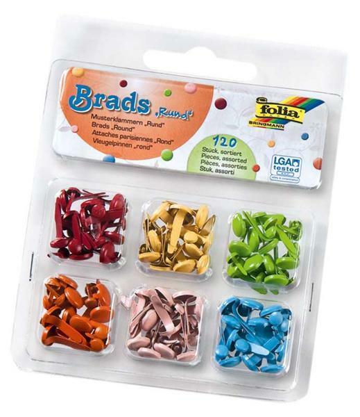 Brads - Musterbeutelklammern, rund