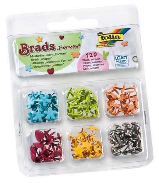 Brads - Musterbeutelklammern, Formen
