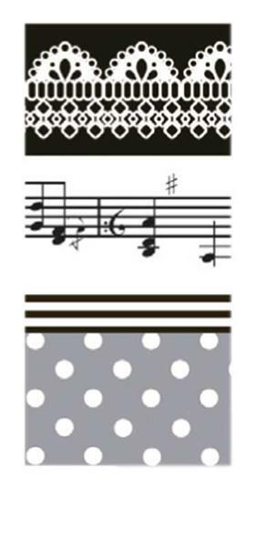 Plakband met motief set - melodie