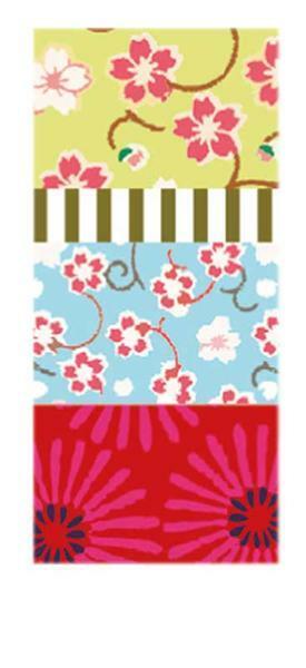 Plakband met motief set - bloemenrij