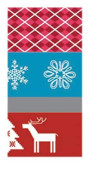 Plakband met motief set - kerst retro