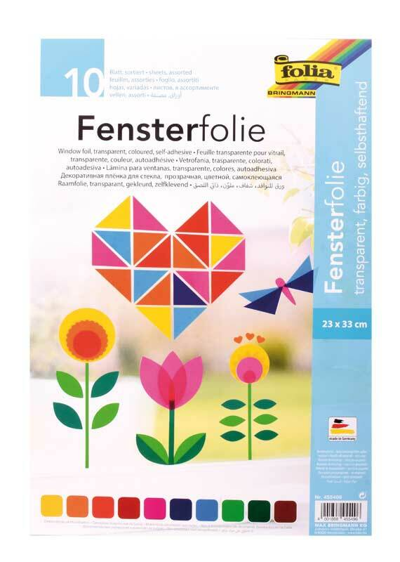 Fensterfolie - 23 x 33 cm, 10 Blatt
