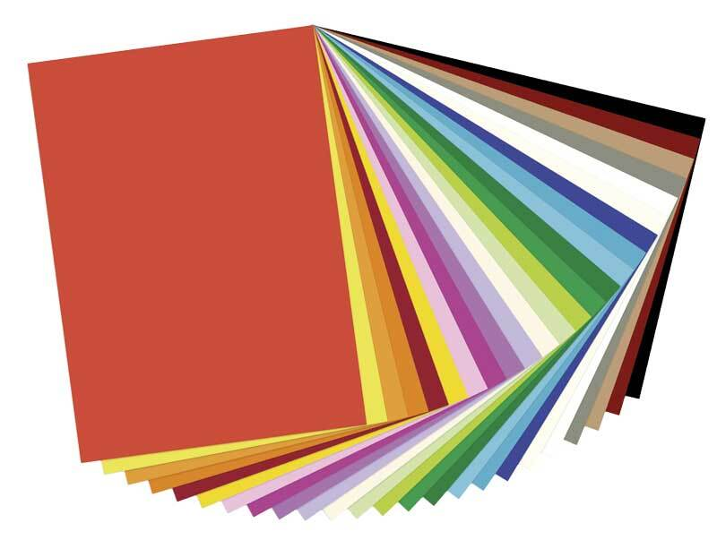Fotokarton - 25 vel, 50 x 70 cm, bont