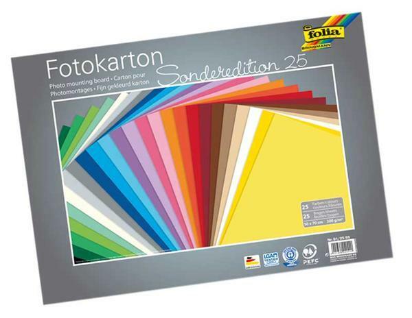 Fotokarton - 25 Bögen, 50 x 70 cm